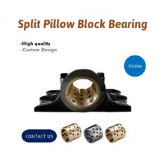Pillow Blocks Oilless Bronze Graphite Plugged Bushings